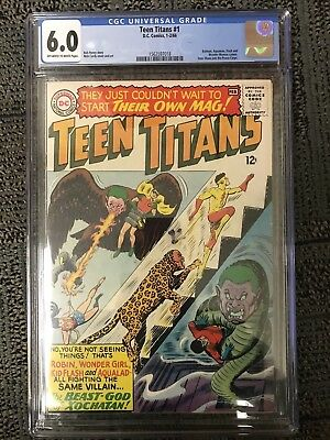 Teen Titans #1 CGC 6.0 (Jan-Feb 1966, DC)off white/white pages  SILVER AGE KEY