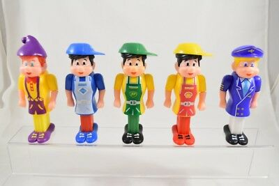 5 Pez Pals w/ Matching Body Parts, Very Good Condition
