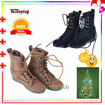 "1/6 Soldier Combat Boots/Shoes W Feet lacing Ankle VM-002/3 Fit 12"" Phicen Body"