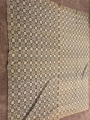 Antique 1800's Hand Weaved Jacquard Coverlet.Sage green/white,Perfect Condition