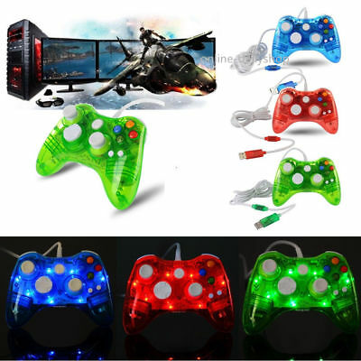 USB Wired Game Controller Gamepad Joystick For XBOX 360 / PC / Rapberry Pi US