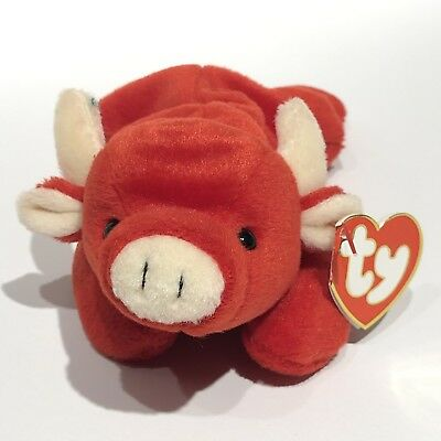 Ty Beanie Baby - Near Mint Hang Tag Tabasco - 3rd Gen HT and 2nd Gen TT