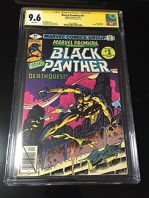 Marvel Premiere 51 Cgc 9.6 SS Stan Lee Ed Hannigan story Black Panther