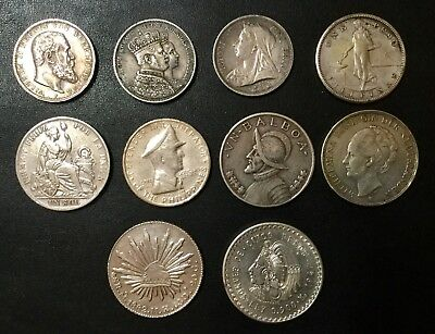 1892-1948 World Silver Coins Lot Of 10 Coins!