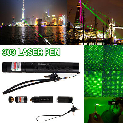 Powerful Military 009 Green Laser Pointer Pen Set + Rechargeable 18650 Battery