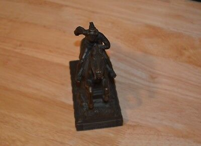 THE PONY EXPRESS 1940 's BRONZE H.A. MACNEIL (H.A.M.N.) STATUE BY JENNINGS BROS
