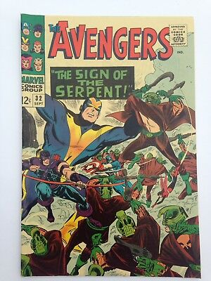 The Avengers 32 Comic Book 1966