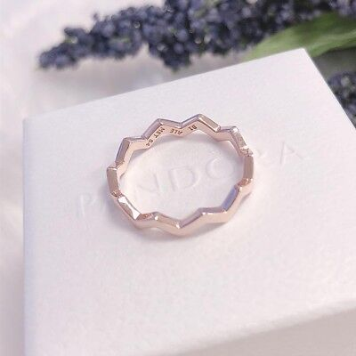 6848ef7e9 NEW Authentic PANDORA Rose™ Gold Timeless Zigzag Stackable Ring 187752