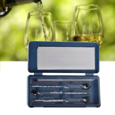3PCS Alcohol Hydrometer Meter Tester Measure Wine Liquor With Thermometer