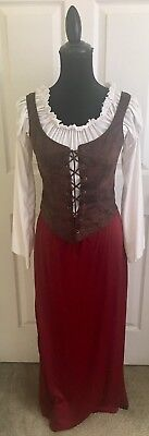 Women Renaissance Medieval Costume Adult 4-6 Tavern Lady New Halloween $24.99