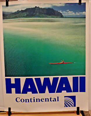 Continental Airlines Hawaii Poster