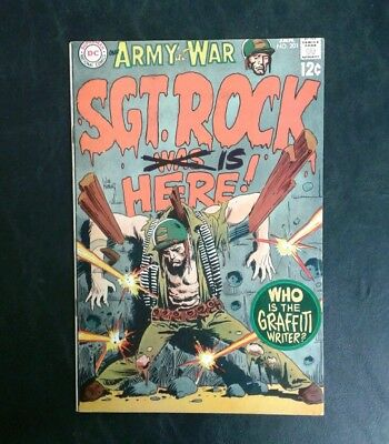 Our Army At War #201 DC Comics 12 cent cover Silver Age Joe Kubert Cover FN- 5.5
