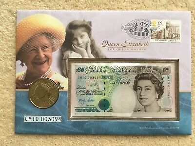 Queen Elizabeth The Queen Mother 5GBP Philatelic Numismatic Cover