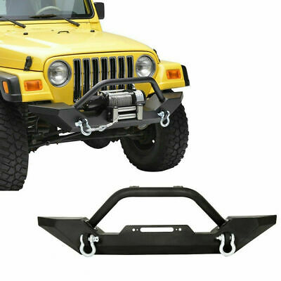Textured Black Front Bumper W/ Instruction+D-Rings For Jeep Wrangler 87-06 TJ YJ