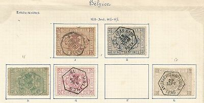 Scarce 1879 BELGIUM RAILWAY STAMPS as scan  ,ref17/ 65