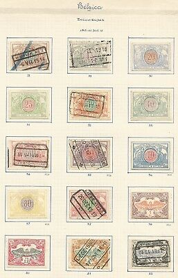 Scarce 1902 - 05 BELGIUM RAILWAY STAMPS on old page ,ref17/ 68
