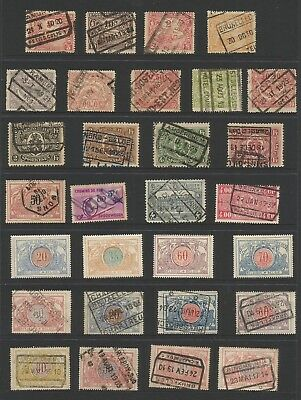 MIXTURE of BELGIUM RAILWAY PARCEL STAMPS AS SCAN from 1900s,ref17/64