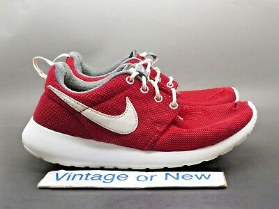 cabb1661ea209 Nike Roshe One Gym Red White Dark Grey GS Running Shoes 599728-603 sz 4.5