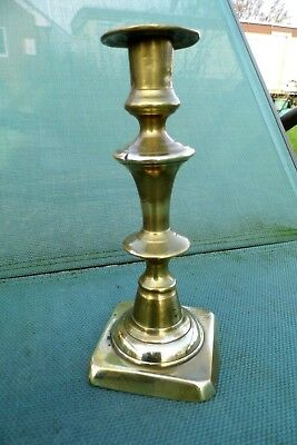 Victorian Candlestick brass candle stick antique early 19th century FFF