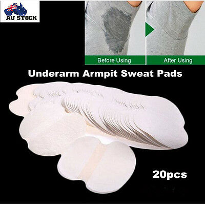 20 x Disposable  Underarm Armpit Sweat Pads Stickers Shield Guard Absorbing NEW