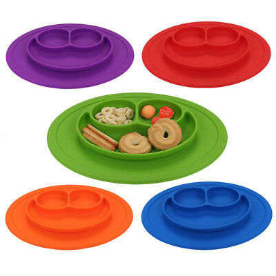 Food Grade Silicone Mat Baby Kid Table Food Dish Suction Tray Placemat Plate