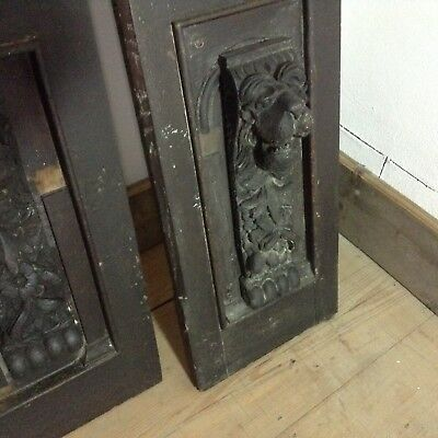 Antique Hand Carved Oak Panels