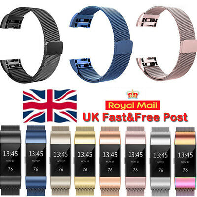 For Fitbit Charge2 Strap Replacement Milanese Band Metal Stainless Steel Magnet.