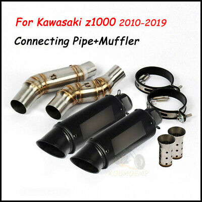 For Kawasaki Z1000 2010-2017 Exhaust Muffler Tip Middle Connecting Pipe Silencer
