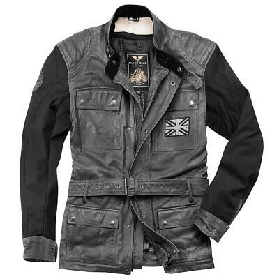 Black-Cafe London Retro Motorrad Lederjacke