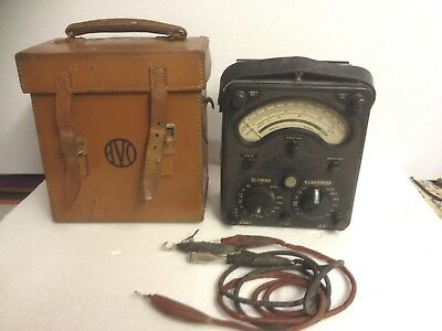 Vintage Universal Avo 8 multi meter and case
