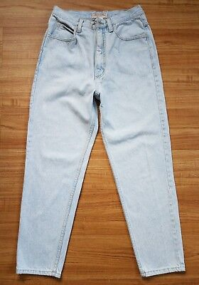 Vtg 90's guess Jeans denim light wash blue usa faded high-waisted mom 28 x 26