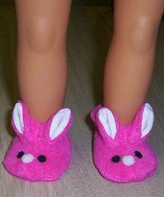 """OUR GENERATION DOLLS BUNNY SLIPPERS Shoes 18"""" American Girl doll clothes Booties"""