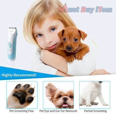 Pet Hair Personal Cordless Clippers Mini Waterproof Dog Cat Paw Grooming Trimmer