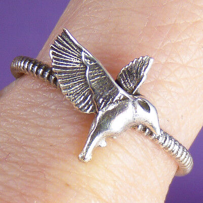 KINGFISHER (Kookaburra) Size US 7 1/2 SILVERSARI Ring Solid 925 Sterling Silver