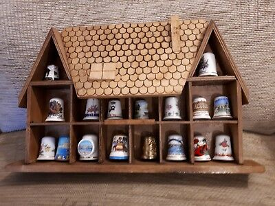 Lovely Thimble Rack In The Shape Of A Country Cottage - Holds 17/18 Thimbles