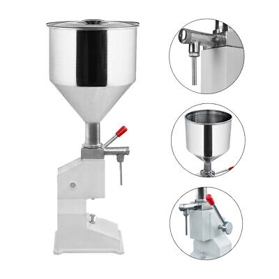 Manual Liquid Paste Filling Machine Cream Shampoo Cosmetic Stainless Steel 50ML