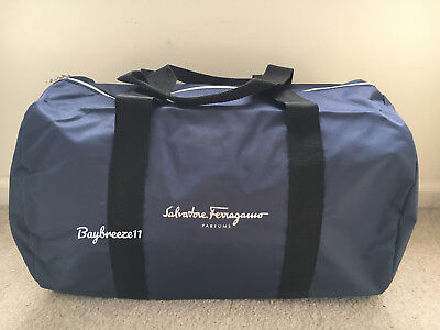 ed47a8a02b6e NEW SALVATORE FERRAGAMO Men Duffle Weekender Gym Travel Overnight ...