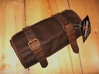 Vintage  Retro  Toolbag  Tool Roll  Waxed Cotton / Leather -  Harley Davidson