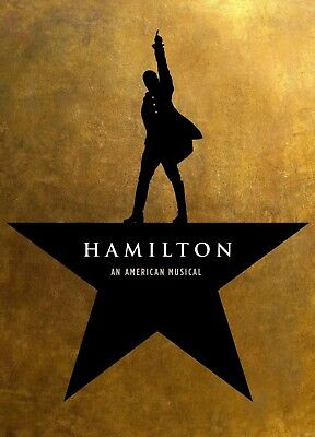 2 Tickets to Hamilton Broadway New York, Saturday 5/18/19 @8pm Orchestra Seating