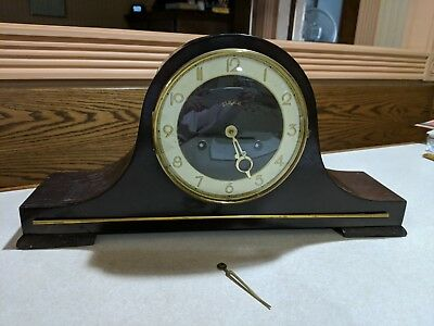 Vintage Heco Tambour Camel Back Shelf clock needs repair antique Germany parts?
