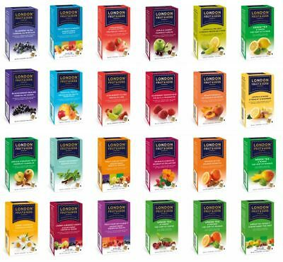 London Fruit And & Herb Herbal Teas Tea Sachets - Choose From 18+ Flavours