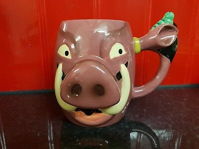 Offical Disney The Lion King Pumbaa Mug Cup - Unique - Rare
