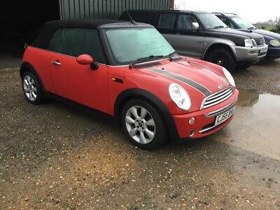 mini cooper 1.6 convertible red s