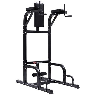 Vertical Knee Raise Stand Pull Chin Push Up Gym Power Tower Dip Station Machine