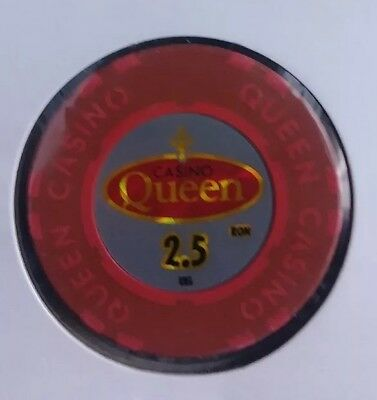 2.5 Ron casino chip from the Queen Casino in Bucharest, Romania. Great chip!