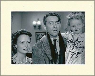 KAROLYN GRIMES ITS A WONDERFUL LIFE XMAS PP 8x10 MOUNTED SIGNED AUTOGRAPH PHOTO