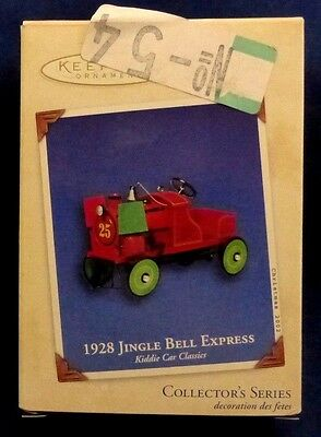 2002 Hallmark 1928 JINGLE BELL EXPRESS Kiddie Car Classics #9 Ornament