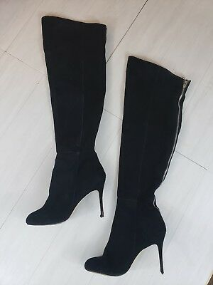 36a418caa0d DV by Dolce Vita Womens Suede Thigh Boots Size 9.5 Black Over The Knee High  Heel