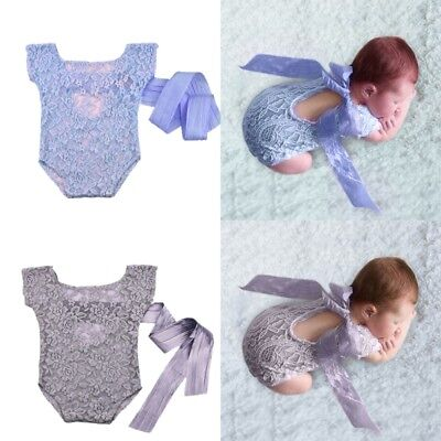 Newborn Baby Boys Girls Cute Costume Outfits Photo Photography Prop Lace CXK