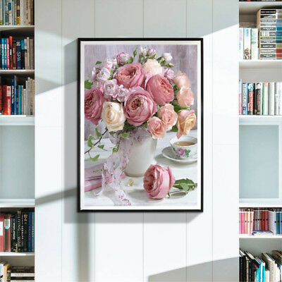 Full drill diamond painting Flowers 5d diy cross stitch Home decor—QY